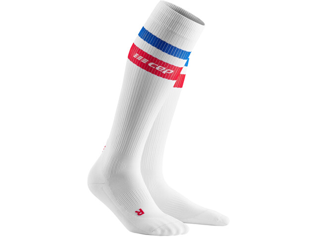 cep 80´s Compression Socks Men white/red/blue